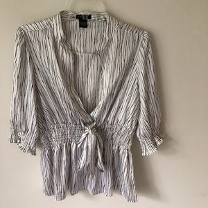 BCBG MAXZARIA Zebra STRIPED TOP